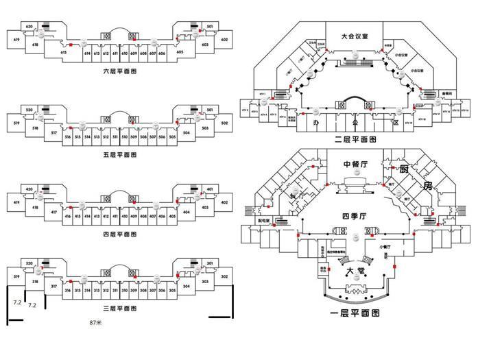 酒店医院局域网拓扑结构